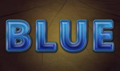 Create Awesome Blue Text in Adobe Photoshop by CorneliaMladenova