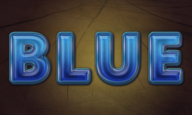 Create Awesome Blue Text in Adobe Photoshop by CorneliaMladenova