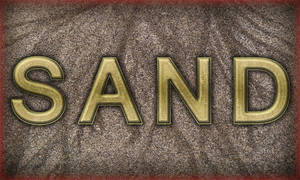 Create Golden Shaded Text on Sand in Adobe Photosh