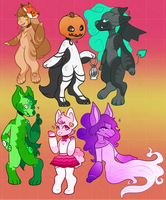 Happy Halloween! 2017 Keon Adopts - Open by crows-blade