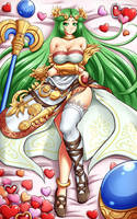 Palutena again by Mazume