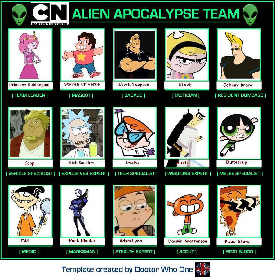 Alien Apocalypse Team meme - Cartoon Network editi by