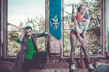 Harley and Joker by Alraunie-stock