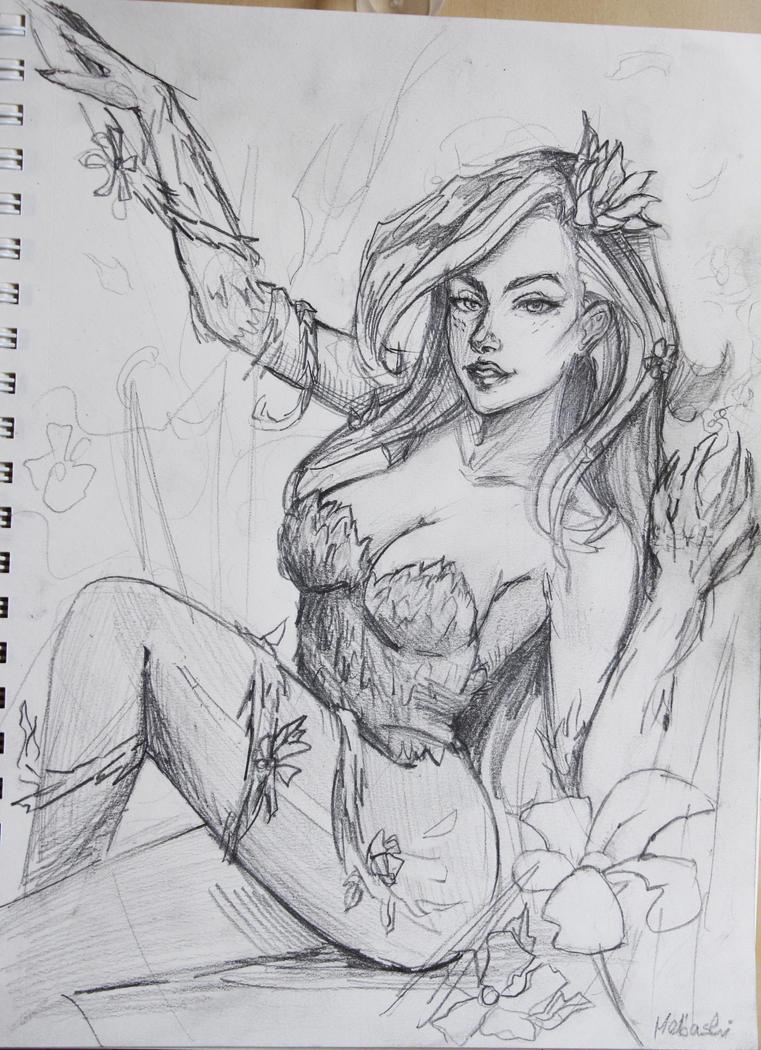 Poison Ivy-Sketch by Mebashi