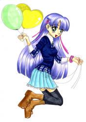 Baloon Copic Girl
