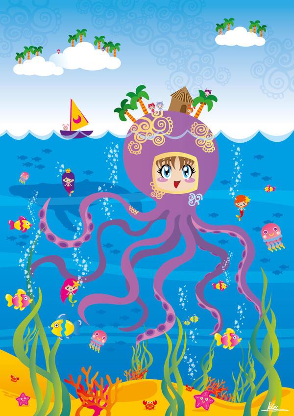 Octopus Girl by kholoodfantasy