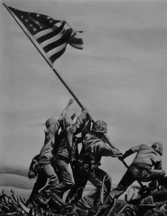 Iwo Jima Flagraising by Y-LIME