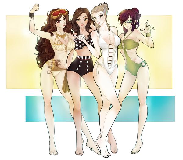 Chicas de universos que nada que ver by taishi-umi
