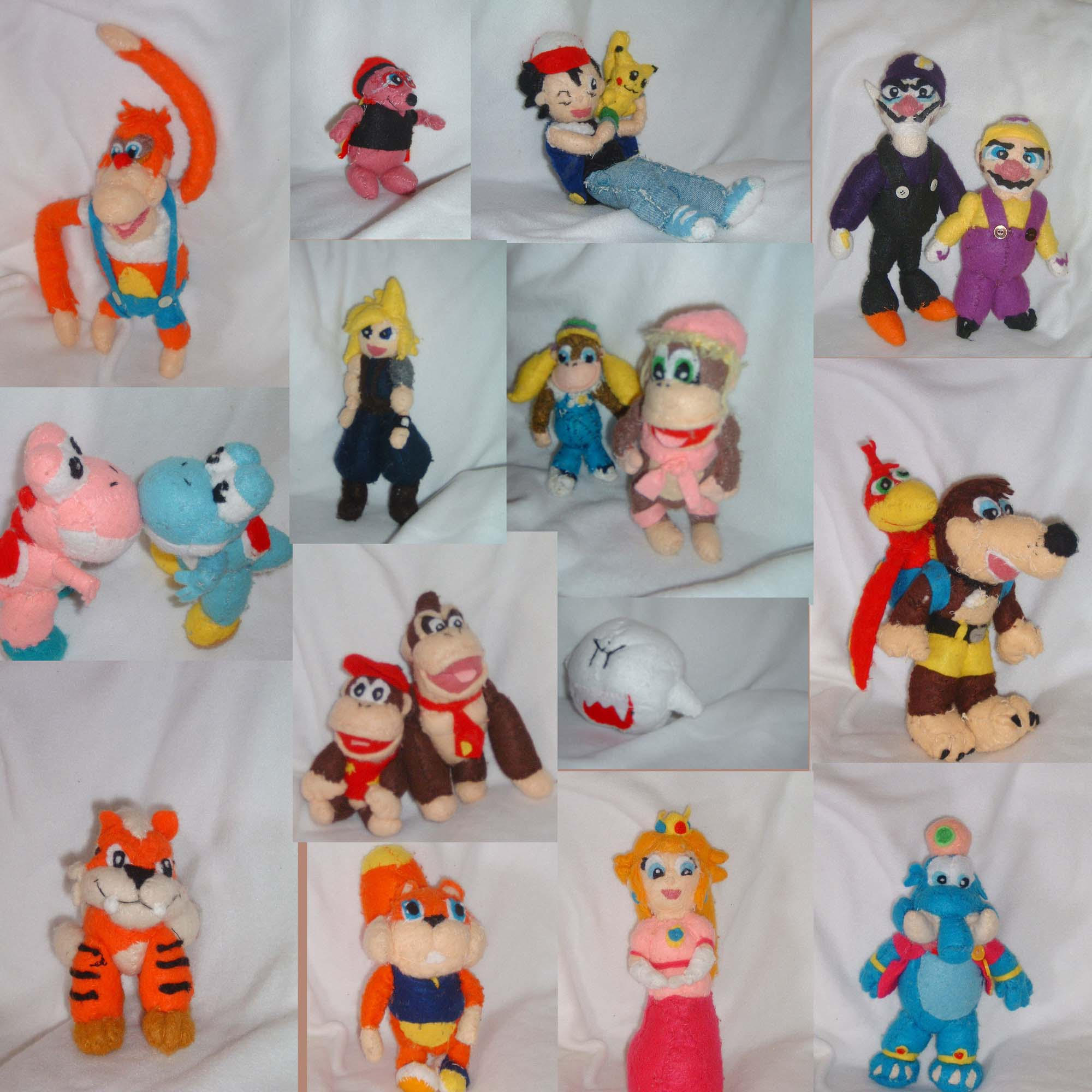 plush doll mosaic '99-'01 by intrepidThrough on DeviantArt