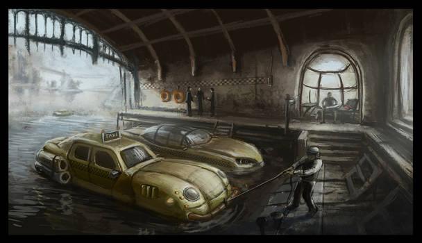 water cab garage