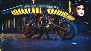 Kayla with her Bike