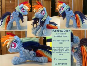 Rainbow Dash Crochet Pony by zomgmad