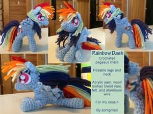 Rainbow Dash Crochet Pony
