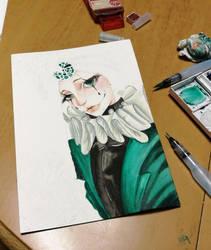 different Pierrot -work in progress-  by JackSoraRaizel