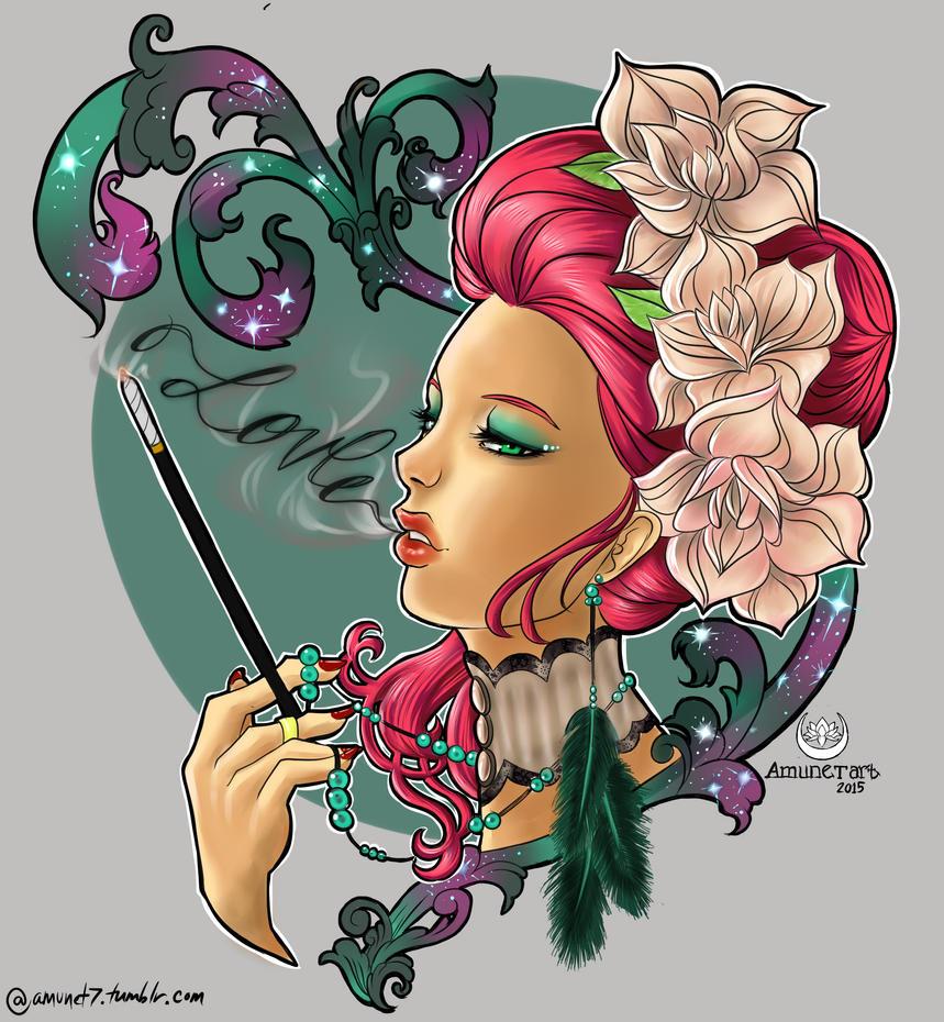 Smokin' Love by AmunetArt