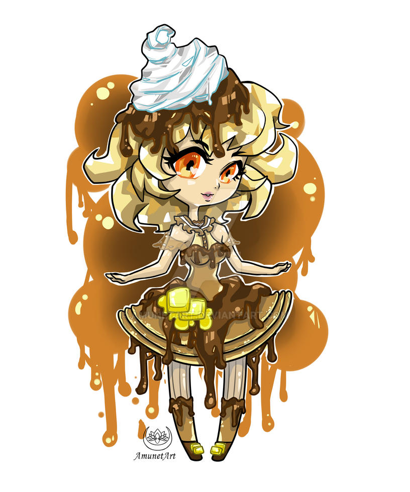 Pancake Chibeh Color by AmunetArt