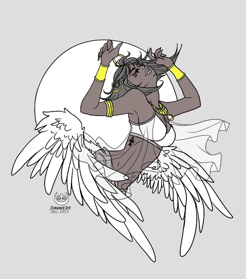 Moon Goddess  by AmunetArt