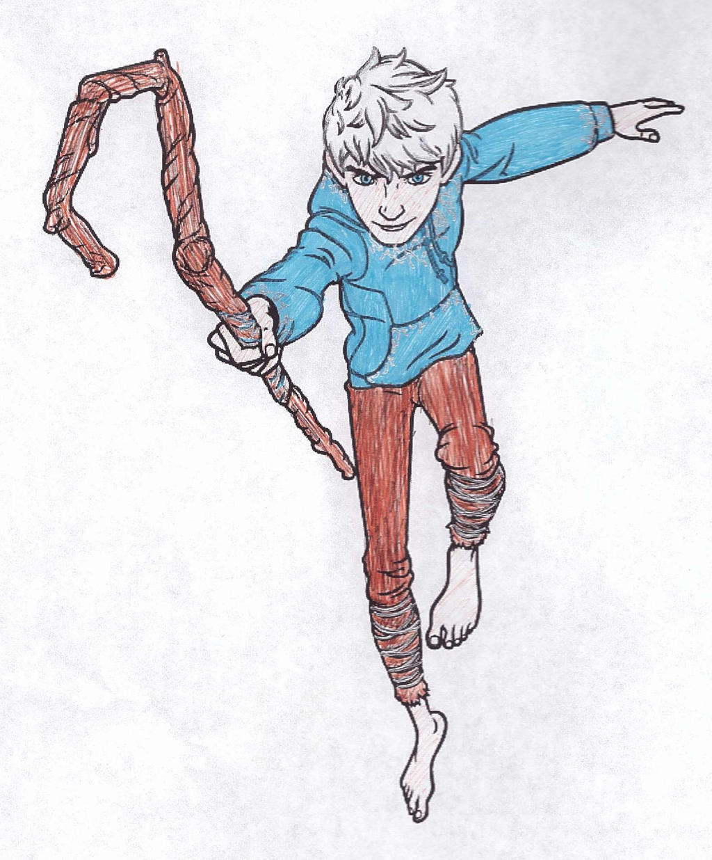 Jack Frost In Coloured Pen Colouring Page By Arielknight On Deviantart
