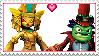 Dr. Krankcase X Golden Queen Stamp by ChelseaKittyGirl