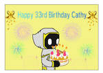 Happy 33rd Birthday Cathy from Young Blacklight