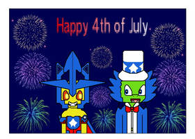 Happy 4th of July from Dr. Krankcase and Luminous