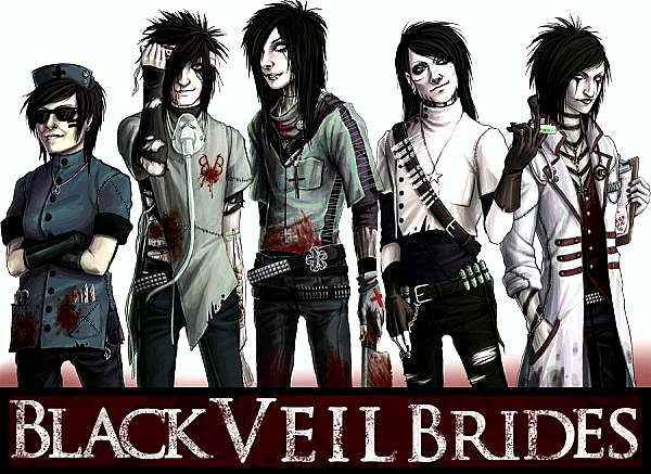 Black Veil Brides Anime Version Drawing by Jogim Decilos