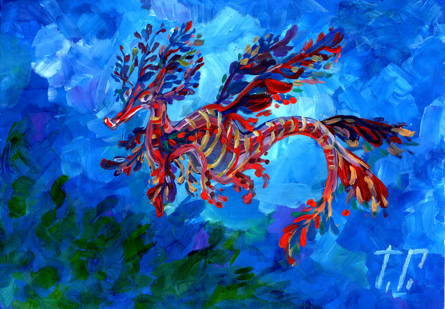 Leafy seadragon by ameliya-barton on DeviantArt