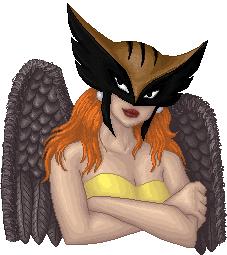 Hawkgirl doll portrait by Lil-Hawk