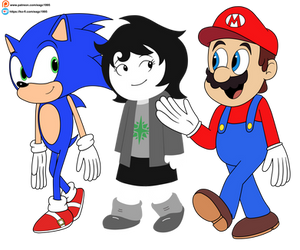 (Commission) Joey Claire meets Mario and Sonic
