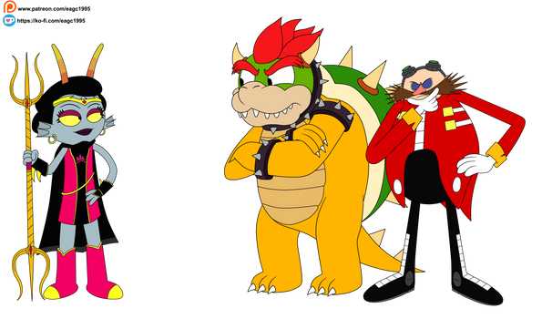 (Commission) Trizza Tethis meets Bowser and Doctor