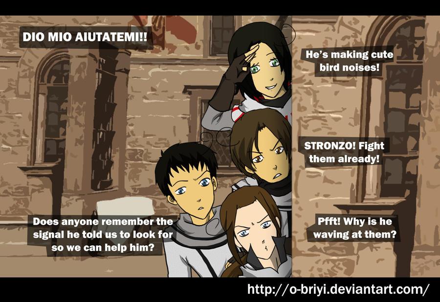 ACC helping Ezio by o-Briyi