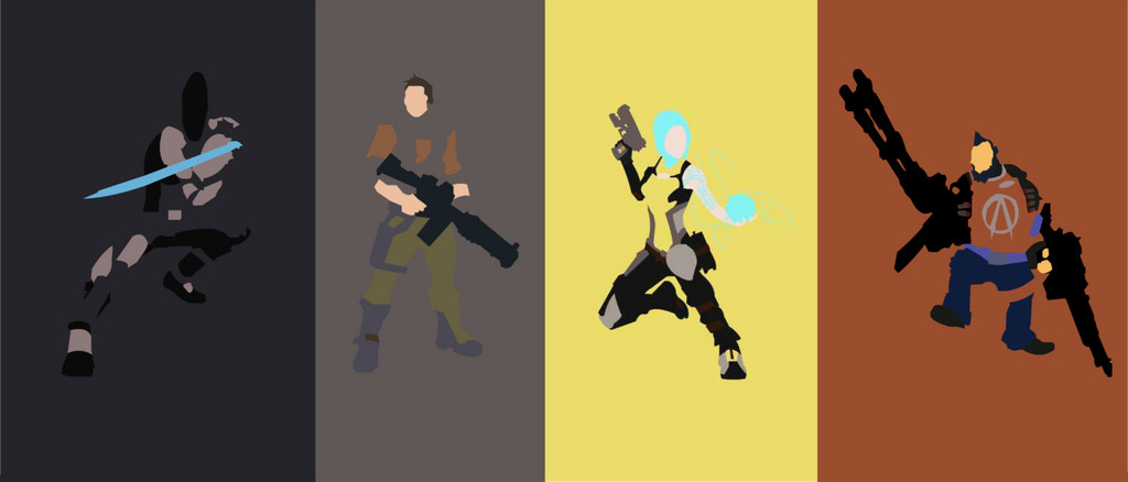 Borderlands 2 Playable Characters by OneMadNugget on DeviantArt