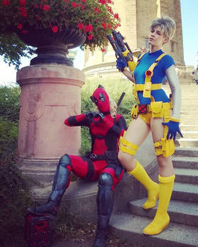 Lady Deadpool and Cable Genderbend