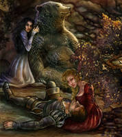 Snow White and Rose Red by CourtneyTrowbridge