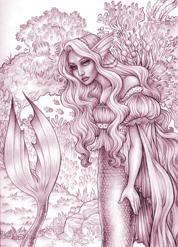 mermaid sketch by CourtneyTrowbridge