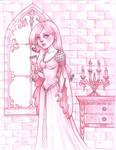 Medieval girl sketch