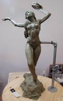 figure sculpture - tambourine dancer by CourtneyTrowbridge