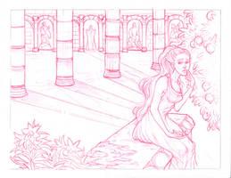 Persephone sketch by CourtneyTrowbridge