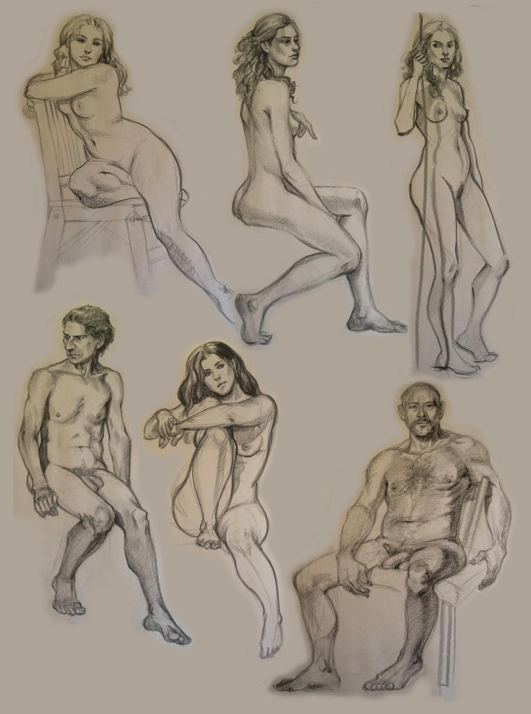 some figure drawing by CourtneyTrowbridge