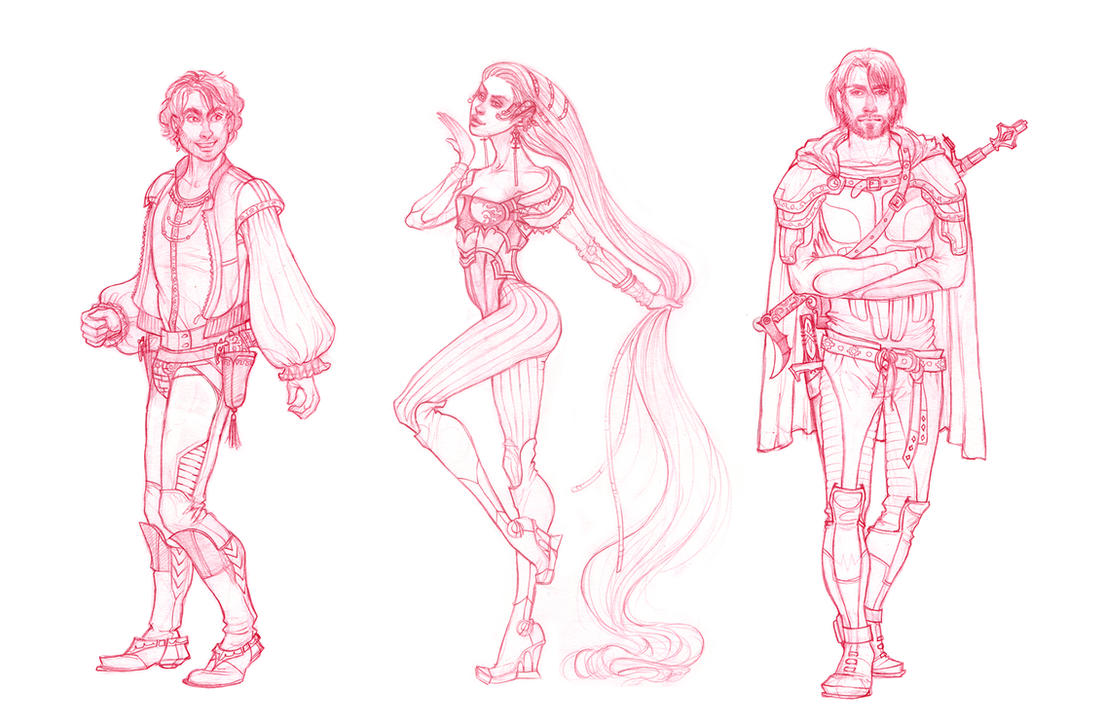 Character design sketches by CourtneyTrowbridge