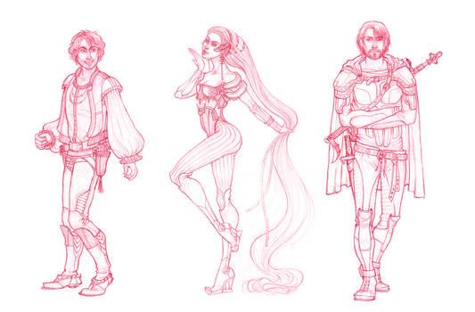 Character design sketches by CourtneyTrowbridge