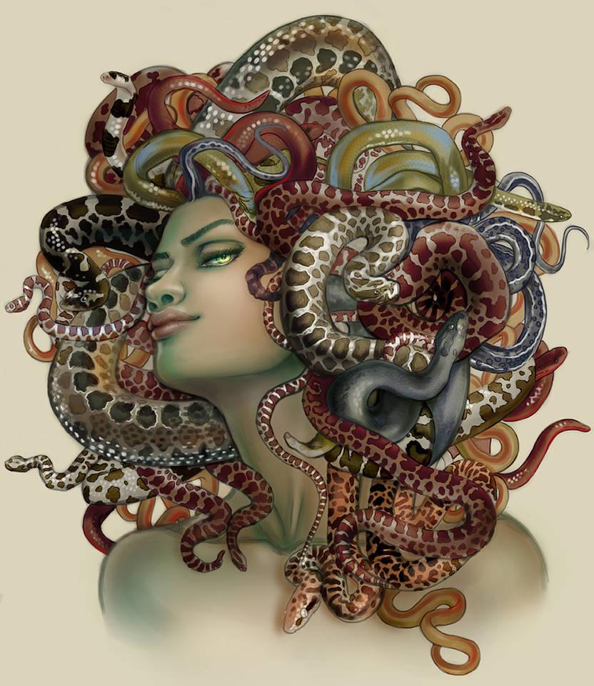 Commission: Medusa book cover, Constance Burris by CourtneyTrowbridge