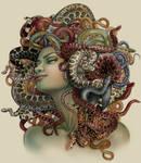 Commission: Medusa book cover, Constance Burris