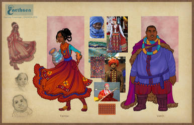 Earthsea costume concepts - Eastern Provinces