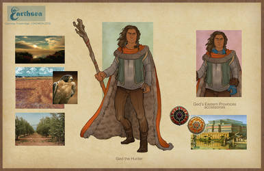 Earthsea costume concepts - Ged the Hunter