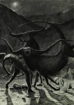 Atack of anal bulls