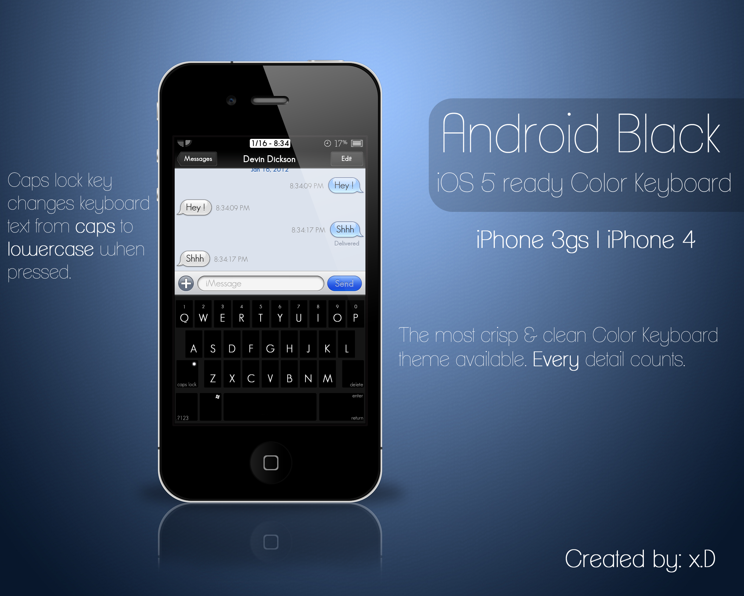 how to get black keyboard on iphone