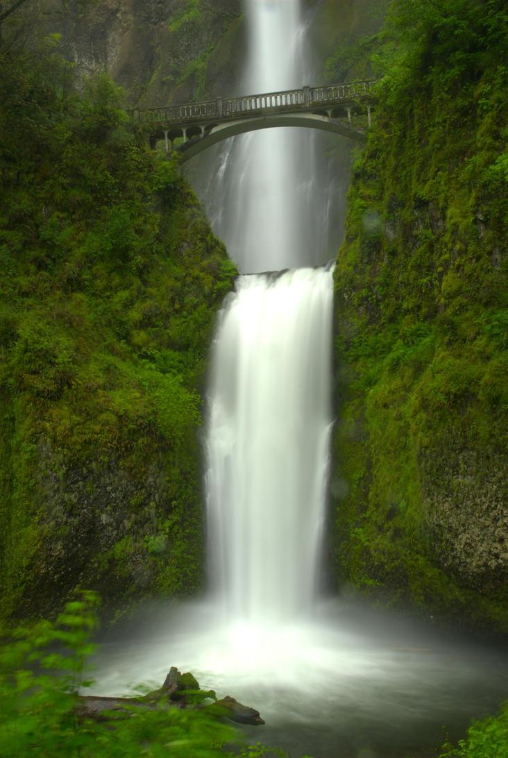 Multnomah Falls - 06-03-10 by strangledbyart