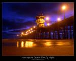 Huntington Beach Pier By Night