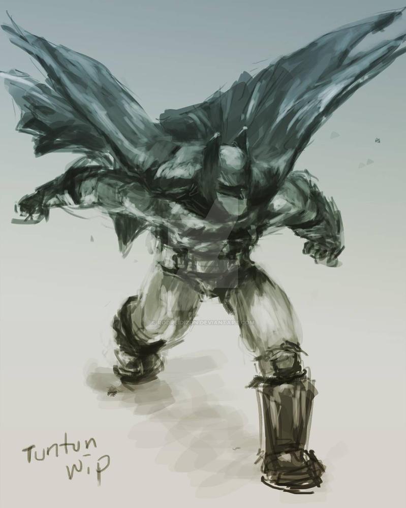 Batman Sketch/study Tenenenennen batmannn by rodreidizon